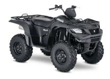 The 2018 KingQuad 750AXi Power Steering is Suzuki's most powerful and technologically advanced ATV. Abundant torque developed by the 722cc fuel-injected engine provides performance that's standard for Utility Sport ATVs. The advanced Power Steering system provides responsive handling, reduces turning effort, and damps vibration to the rider. The KingQuad's easily adjustable suspension lets you float over rough obstacles with ease while still being able to haul or tow what you need to get the job done.  For 2018, the KingQuad 750AXi Power Steering is available in a Special Edition finish of Solid Matte Sword Black