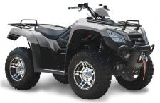 The KYMCO MXU 450i LE has work-site utility and agricultural agility, with power and handling for any farm, forest or fen. Features include alloy wheels and a 3,000 lb. winch. Its 443cc, 33 hp engine has shaft drive, on-demand 2WD/4WD modes, and a handlebar differential lock. Independent dual A-arm suspension feature five-position adjustable shocks. The MXU 450i LE has 24″ tires for French Broad River-clearance of 10.5″. An automatic CVT with H-L-N-R, dual-disc front and single-disc rear brakes are standard. Other features include dual front and rear lights, 12v accessory outlet, under-seat storage, front and rear racks, alloy wheels, and a two-inch towing receiver hitch for 1,050-lbs. – all for gosh-darn few dollars. Available in Diamond Silver. (ANSI/SVIA Rated Adult – The MXU 450i LE is recommended for riders 16-years of age and older. KYMCO recommends that all ATV riders take a training course and read their owner's manual thoroughly.) This item may not be available immediately in dealer stock. Some items may need to be ordered. See terms for details. 11196