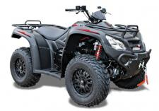 "The MXU 450i LE Prime is loaded with full-sized features: black aluminum Alloy 12"" wheels; factory-installed winch; and Kaiffa Shocks. Packed with enough power and handling for any farm, field or forest, its 443cc engine peaks at 33 horsepower, driving an Automatic CVT transmission with H-L-N-R and on-demand 2WD/4WD drive modes. The MXU 450i LE Prime also features a handlebar differential lock, independent dual A-arm suspension, and Kaiffa shocks. It has Saluda River-crossing ground clearance of 10.5-inches, and hydraulic dual-disc front and single-disc rear brakes . Other features: dual front and rear lights; 12v accessory outlet; under seat storage; front and rear racks; two-inch receiver hitch for towing 1,050-lbs.. Available in Matte Black. (ANSI/SVIA Rated Adult – The MXU 450i LE is recommended for riders 16-years of age and older. KYMCO recommends that all ATV riders take a training course and read their owner's manual thoroughly.) This item may not be available immediately in dealer stock. Some items may need to be ordered. See terms for details. 11197"