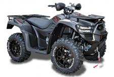 "The optioned-out and ready to ride MXU 700i LE Prime tops the ATV field with its black aluminum 14"" alloy wheels, 26"" tires, factory-installed 3,000lb. winch, EPS, Elka Shocks Stage 1, brush guards, and hand guards. Based on KYMCO's championship-winning MXU 700i LE, the Prime is built on KYMCO's high-powered 695cc, fuel-injected, liquid-cooled, 4-stroke, 4-valve, engine. The MXU 700i LE Prime also features push-button, on-demand, 2WD/4WD, driven by KYMCO's automatic CVT transmission with H-L-N-R-P drive modes. Dual A-arm suspension at each corner, with stopping power provided by dual-disc front brakes and a shaft-mounted rear disc brake, for sure-footed control over any terrain. The chassis has high ground clearance of 10.4-inches to please the adventurer from rocks to ruts. KYMCO's active Engine Braking accentuates control, and the MXU 700i Prime comes outfitted with left and right locking topside fender storage, right-rear under-fender storage, a 12v accessory outlet. Available in Matte Black. This item may not be available immediately in dealer stock. Some items may need to be ordered. See terms for details. 11202"