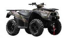 KYMCO MXU 700i LE EPS Camo is a high-range mid-optioned ATV with aluminum alloy wheels; electronic power steering (EPS); and a 3,000 lb. winch. Powered by a 695cc, fuel-injected, liquid-cooled, 4-stroke, 4-valve, engine, the MXU 700i LE EPS features push-button, on-demand, 2WD/4WD, driven by KYMCO's automatic CVT transmission with H-L-N-R-P drive modes. Dual A-arm suspension is at each corner, with hydraulic dual-disc front brakes and shaft-mounted hydraulic disc rear brakes slowing this ATV. The chassis provides a watermelon-clearing 10.4-inches of ground clearance, with KYMCO's active Engine Braking accentuating control over tough, tricky, terrain. The MXU 700i LE EPS comes with left and right locking topside fender storage, right-rear under-fender storage, a 12v accessory outlet, and is available in the nearly invisible True Timber Camo. This item may not be available immediately in dealer stock. Some items may need to be ordered. See terms for details. 11201