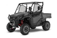 2018 HONDA PIONEER 1000 LIMITED EDITION MATTE GRAY METALLIC  All side-by-sides face the same challenges, but it's how they solve them that sets Honda's Pioneers apart. Smart technology. Superior materials. Refined engineering. And something nobody else can match: Honda's well-earned and world-famous reputation for reliability and overall quality. And the farther you go or the harder you work, the more that means. This year's Honda Pioneer 1000 lineup is a perfect example. These great side-by-sides got it right the first time in terms of comfort, handling, hauling, and user-friendly features. Available in both three- and five-seat versions, in addition to their innovative features, from our flagship Pioneer 1000-5 Limited Edition right through our line to the Pioneer 1000, you can count on a Honda, year after year, mile after mile, adventure after adventure. PIONEER 1000 LIMITED EDITION Adds: I-4WD, FOX QS-3 shocks, Hill-Start Assist, Electronic Brakeforce Distribution, aluminum skid plate and A-arm protection, aluminum wheels, red springs and A-arms, under-dash storage, front and rear cupholders, illuminated switches  247164