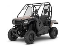 2018 HONDA PIONEER 500 PHANTOM CAMO  Even though the Pioneer 500 is trim in size, it's still a giant in terms of what it can accomplish. The powerful 500-class engine delivers plenty of low-rpm torque and a wide powerband to accomplish the job, big or small. Got something to tow? The Pioneer 500 can handle a 1000-pound towing load, and the rear rack can hold 450 pounds. Plus, the automatic five-speed electric-shift transmission has a manual mode with paddle shifters so you can choose to let it shift automatically, or switch over into MT mode—even on the fly.  The Pioneer 500 is equipped with Independent Rear Suspension with dual-rate springs. This, combined with an open front differential and a locked rear axle gives you precise handling, plenty of power to both rear wheels full time, and a smooth ride for all-day comfort.  246923