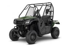 2018 HONDA PIONEER 500 OLIVE  Even though the Pioneer 500 is trim in size, it's still a giant in terms of what it can accomplish. The powerful 500-class engine delivers plenty of low-rpm torque and a wide powerband to accomplish the job, big or small. Got something to tow? The Pioneer 500 can handle a 1000-pound towing load, and the rear rack can hold 450 pounds. Plus, the automatic five-speed electric-shift transmission has a manual mode with paddle shifters so you can choose to let it shift automatically, or switch over into MT mode—even on the fly.  The Pioneer 500 is equipped with Independent Rear Suspension with dual-rate springs. This, combined with an open front differential and a locked rear axle gives you precise handling, plenty of power to both rear wheels full time, and a smooth ride for all-day comfort.  246906
