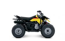 The 2018 Suzuki Z90 is the ideal ATV for adult-supervised riders age 12 and older to grow skills with. Convenient features like an automatic transmission and electric starter help make this ATV suitable for supervised riders ages 12 and up. An easy-to-set throttle limiter lets adults set the power level appropriately for young riders, and a keyed ignition switch makes sure there's no unauthorized journeys. Get your little ones started on the Quadsport Z90 so your whole family can experience the fun of the outdoors and the joy of riding a Suzuki!