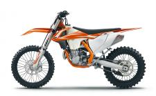 "Building on the updated for 2017 450 SX-F, KTM's engineers have checked all of the boxes to make the 450 XC-F an off-road winner. Updated damping settings on the WP AER 48 fork and rear shock, new clutch plates and revised radiator guards further enhance the 450 XC-F. XC specific equipment such as the translucent polyethylene 2.25 gallon fuel tank, hand guards and an 18"" rear wheel ensure that the 450 XC-F is unstoppable in off-road closed-course competition."