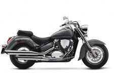 The Suzuki Boulevard C50 stamps a bold impression on traditional cruiser styling that includes kicked-out forks and a staggered, chromed dual-exhaust system, the Boulevard C50 turns heads wherever you ride. Its fuel-injected, 50-cubic-inch V-twin engine delivers abundant torque and is engineered for comfort. On the boulevard or the open highway, its spacious riding position and smooth suspension let you cruise comfortably all day long, while its rear suspension delivers the appearance of a classic hardtail.