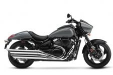 The Suzuki Boulevard M90 is a muscle cruiser with sleek, yet powerful styling that includes slash-cut mufflers, a hard-tail look, and drag-style bars. The distinctively shaped headlight nacelle presents a look that's uniquely Suzuki.  Wherever you ride, the M90 offers responsive handling and an exceptionally comfortable ride, thanks to its inverted forks, smooth, single-shock rear suspension and ideally designed saddle. Its 90-cubic-inch V-twin engine with Suzuki fuel injection punches out tremendous torque and exhilarating acceleration from idle to redline.
