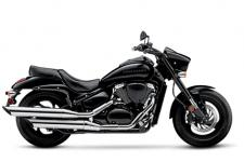 The Suzuki Boulevard M50 is a muscle cruiser with sleek, yet powerful styling that includes slash-cut mufflers, a hard-tail look, and drag-style bars. The distinctively shaped headlight nacelle presents a look that's uniquely Suzuki.  Wherever you ride, the M50 offers responsive handling and an exceptionally comfortable ride, thanks to its inverted forks, smooth, single-shock rear suspension and ideally designed saddle. Its 50-cubic-inch V-twin engine with advanced Suzuki fuel injection is equally impressive, producing a load of torque for strong acceleration in every gear.