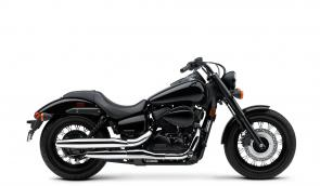 Sometimes a whisper can be louder than a shout. That's the idea behind the 2020 Honda Shadow Phantom. Understated when it comes to bright colors or chrome. An over-achiever when it comes to a low center of gravity, rideability, comfort, and performance. Check out the spoked wheels, black rims, bobbed fenders and matte black accents. And at the heart of the matter, a blacked-out 745cc V-twin and throaty exhaust that offers the wide torque spread and user-friendly power every cruiser rider wants. No wonder its a popular favorite.