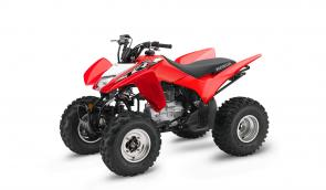 Light handling, long suspension travel, and a broad four-stroke powerband make this ATV impossibly fun.