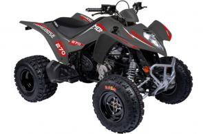 This sporty model is a dream for the young rider transitioning into full independence. Featuring Maxxis Razr tires for extra traction and an anti-theft lock for the steering, from the Euro Series, to protect the vehicle.