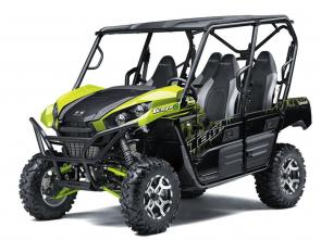 Eager for action, Kawasaki Teryx4™ side x sides are built to dominate the trails. With the perfect combination of rugged sport performance and capability, these vehicles are made to conquer the outdoors with up to four passengers on-board.