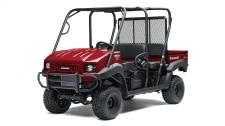 "THE 2018 MULE 4000 TRANS SIDE X SIDE IS A NO-NONSENSE MID-SIZE WORKHORSE BUILT TO OFFER RELIABLE PERFORMANCE, CONVENIENT VERSATILITY AND INDUSTRIAL-GRADE DESIGN AT AN ATTRACTIVE PRICE POINT. Fuel-injected 617cc V-twin engine for strong, dependable performance 2 to 4 passenger Trans Cabâ""¢ system design lets you quickly change from a 4-seat crew mover to a 2-seat cargo hauler, without the need for tools Fully automatic Continuously Variable Transmission (CVT) contributes to smooth and efficient power delivery 2WD with dual-mode rear differential Electric Power Steering (EPS) and a thick, padded bench seat provide all-day driving comfort Tow up to 1,200 lbs. and haul up to 800 lbs. in the highly durable steel cargo bed"