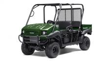 THE MULE 4010 TRANS4X4 SIDE X SIDE IS A VERSATILE MID-SIZE TWO- TO FOUR-PASSENGER WORKHORSE THAT'S CAPABLE OF PUTTING IN A HARD DAY OF WORK AS WELL AS TOURING AROUND THE PROPERTY. 617cc fuel-injected, V-twin engine produces reliable performance Convertible design lets you easily change from a 4-seat crew mover to a 2-seat cargo hauler, without the need for tools Selectable 2WD or 4WD with dual-mode rear differential Continuously Variable Transmission (CVT) with HI/LO ranges, neutral and reverse Up to 1,200-lbs. towing capacity and 800-lbs. cargo bed capacity Electric Power Steering (EPS) provides all-day driving comfort Backed confidently by the industry-leading Kawasaki STRONG 3-Year Limited Warranty