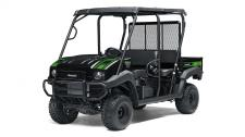 GREAT LOOKS, COMFORT AND CONVENIENCE HIGHLIGHT THIS SPECIAL EDITION. THE MULE 4010 TRANS4X4 SE SIDE X SIDE IS A VERSATILE MID-SIZE TWO TO FOUR-PASSENGER SIDE X SIDE THAT'S CAPABLE OF PUTTING IN A HARD DAY OF WORK AS WELL AS TOURING AROUND THE PROPERTY. 617cc fuel-injected, V-twin engine produces reliable performance SE features include high-output LED headlights, sun top, and SE color and graphics Selectable 2WD or 4WD with dual-mode rear differential Up to 1,200-lbs. towing capacity and 800-lbs. cargo bed capacity Electric Power Steering (EPS) provides all-day driving comfort Backed confidently by the industry-leading Kawasaki STRONG 3-Year Limited Warranty