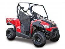 The UXV 450i's virtue is versatility, with its compact chassis that rolls right into most full-sized pickup trucks. The KYMCO UXV 450i's cab features a bench seat and tilt steering wheel for easy access in and out of the vehicle. A 440-lb. capacity gas-assist dump bed with built–in tailgate storage is out back. Its outstanding ground clearance and class-leading front and rear independent suspension provide smooth, sure-footed handling on rough and rugged terrain, complemented by 2WD to 4WD with differential lock. Built for rugged play and tough work, the UXV 450i is an outstanding value for its features and quality. This item may not be available immediately in dealer stock. Some items may need to be ordered. See terms for details. 11204