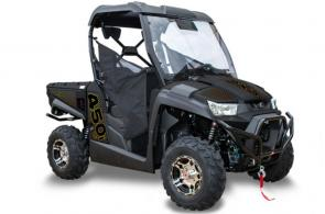 The UXV 450i LE Prime has been upgraded from the LE model with features including Stage 1 Elka shocks.