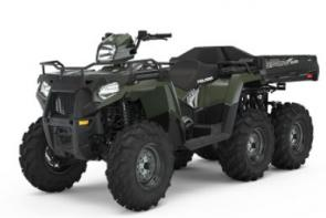 An ATV purpose-built to tackle the toughest jobs with ease. Includes: Versatile 1-up and 2-up Integrated Passenger Seating System Close-Ratio True On-Demand AWD/2WD 44 HP ProStar Engine Variable Assist Electronic Power Steering (EPS) 9.5 Travel Independent Rear Suspension Engine Braking System (EBS) with Active Descent Control (ADC) 1,115 lb Payload Capacity