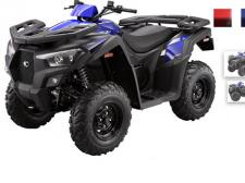 The MXU 700 base model is feature rich with 4-wheel independent suspension, on demand 2wd/4wd drive system, multiple storage compartments and a USB charging port. Traverse the most demanding terrain in customized riding comfort. In addition, the KYMCO Euro Series is proudly adding new safety features to further protect the riders and their belongings, an extra safe combined braking system and an anti-theft lock for the steering.  (Available in Matte Black/Blue and Matte Black/Red)