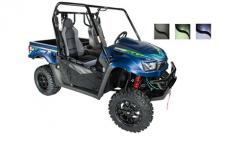 "The UXV 700i LE model is equipped with a 3000 lb.  WARN winch and electronic power steering for easy maneuvering through tight trails. 14"" black aluminum sport alloy wheels with 26"" tires, new paint and graphics give this model a sleek, sporty appearance.  (Available in Seattle Blue, Matte Black, & Flat Deep Green)"