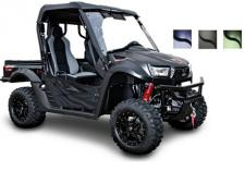 The UXV 700i LE Prime model is an impressive upgrade from 700i LE model. With added Prime accessory package including hard top, front and rear windshield and bed extender you can tackle any terrain with confidence.  (Available in Seattle Blue, Matte Black, Flat Deep Green)