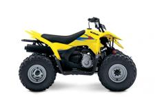 The 2019 Suzuki Z90 is the ideal ATV for adult-supervised riders ages 12 and older to develop their skills. Convenient features like an automatic transmission and electric starter help make this ATV suitable for supervised riders ages 12 and up. An easy-to-set throttle limiter lets adults set the power level appropriately for young riders, and a keyed ignition switch makes sure there are no unauthorized journeys.