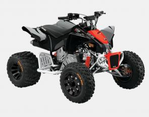 For children 10 years of age and up, our DS 90 and DS 90X models are complete and comes with added features to enhance the adventure. With front double A-arm, HPG Piggyback shock, racing kick-up pegs, X-package graphics and seat cover, and a sport look exhaust, the DS 90X simply sets new standards.