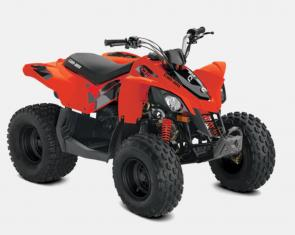SMALL ATV, BIG SMILES. The DS 90 gives riders aged 10 and up a more thrilling, connected riding experience�with a throttle limiter for full speed control.