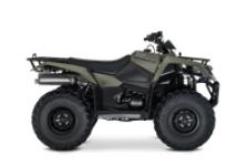 The 2019 Suzuki KingQuad 400FSi features a 5-speed manual-shift transmission and semi-automatic clutch for those who favor a bit sportier performance.