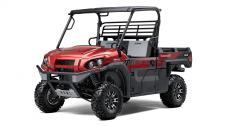 "THE ""PLAY"" SIDE OF THE KAWASAKI MULE™ PRO SERIES FAMILY JUST GOT STRONGER WITH THE NEW 2018 MULE PRO-FXR™ SIDE X SIDE. EQUIPPED WITH PREMIUM FEATURES AND AGGRESSIVE STYLING, THE MULE PRO-FXR IS A TRUE BOSS VEHICLE. Rugged compact size with stylized front grill and hood, painted finish, aggressive graphics plus comfortable 2-tone contoured seat with FXR badging Durable steel front and rear bumpers add to the rugged and capable appearance while helping to protect fenders and bodywork Front and rear independent suspension delivers class-leading ride comfort by effectively dampening both low speed and high speed bumps A wide stance gives a confidence-inspiring grip, even on tricky terrain for a planted ride Power through the day with responsive steering, a tight turning radius, short wheelbase and selectable 2WD/4WD and rear differential lock"