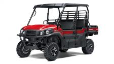 The MULE PRO-FXT™ side x side has incomparable strength and endless durability backed by over a century of Kawasaki Heavy Industries, Ltd. (KHI) engineering knowledge. Go and get the job done with the MULE PRO-FXT side x sides three-passenger Trans Cab™ system, or easily convert it to six-passenger mode for a revolutionary new way to work and play. To top it off, the MULE PRO-FXT is backed confidently by the Kawasaki STRONG 3-Year Limited Warranty.