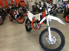 "Demo - 13.2 hrs. - Very clean with REKLUSE 3.O clutch. First service complete. Building on the updated for 2017 450 SX-F, KTM's engineers have checked all of the boxes to make the 450 XC-F an off-road winner. Updated damping settings on the WP AER 48 fork and rear shock, new clutch plates and revised radiator guards further enhance the 450 XC-F. XC specific equipment such as the translucent polyethylene 2.25 gallon fuel tank, hand guards and an 18"" rear wheel ensure that the 450 XC-F is unstoppable in off-road closed-course competition"