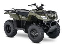 The 2018 Suzuki KingQuad 400FSi features a five-speed manual-shift transmission and semi-automatic clutch for those who favor a bit sportier performance. It cranks out an impressive amount of torque and has an incredibly wide powerband for exceptional performance on the trail or on the job. A high-performance iridium spark plug and refined Pulsed-secondary AIR-injection (PAIR) system help provide outstanding fuel efficiency, clean emissions, and great performance.