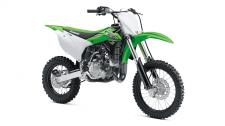 THE KX85 MOTORCYCLE BRINGS KAWASAKI'S PROVEN PERFORMANCE TO THE AMATEUR RANKS, WITH THE PROPORTIONATE POWER OF A BIG BIKE SCALED DOWN TO OFFER EXPERIENCED YOUNG RACERS THE ADVANTAGE THEY NEED. High-performance liquid-cooled, 84cc 2-stroke engine 6-position adjustable handlebar mount helps tailor ergonomics for a wide range of riders Sophisticated suspension components with a 32.7 inch seat height Front and rear disc brakes High tensile steel perimeter frame