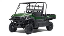 The MULE PRO-DX™ is our powerful, most capable diesel MULE™ side x side ever. Built on the same rugged platform as the MULE PRO-FX™, this innovative side x side comes equipped with the largest cargo bed in class all while offering comfortable full-size three-passenger seating. To top it off, the MULE PRO-DX is confidently backed by the Kawasaki STRONG 3-Year Limited Warranty.