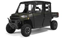 Great features of RANGER CREW XP 1000 with the factory installed RANGER Premium ProShield Cab and heating and air conditioning system.