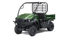PACKED WITH VALUE, THE MULE SX IS AN EASY TO DRIVE, 2WD SIDE X SIDE THAT'S CAPABLE OF HARD WORK, ESPECIALLY IN TIGHTER ENVIRONMENTS. WITH A TOUGH APPEARANCE, THE MULE SX IS A COMPACT WORKHORSE THAT EASILY FITS IN THE BED OF A FULL-SIZE PICKUP TRUCK. 401cc air-cooled, 4-stroke; 2WD with dual-mode rear differential Steel cargo bed with textured floor is durable and scratch resistant Up to 1,100-lbs. towing capacity and 400-lbs. cargo bed capacity KQR™ featuring quick release capabilities with integrated cargo bed rails allow for easy installation of KQR cargo bed accessories Compact size and tight turning radius for easy maneuvering Adjustable tilt steering, premium thick grip steering wheel and padded bench seat for all day driving comfort Built to last and backed by the industry-leading Kawasaki STRONG 3-Year Limited Warranty