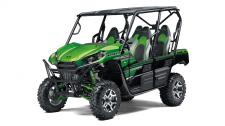 • Aggressive front end styling • Optimized settings for Fox Podium 2.0 shocks • The Kawasaki STRONG 3-Year Limited Warranty • Continuously Variable Transmission (CVT) with confidence-inspiring automatic engine braking performance Eager for action, the Kawasaki Teryx4 side x side is built to dominate the most demanding trails. With the perfect combination of rugged sport performance and useful capability, the Teryx4 is up for a variety of challenges. Backed by the strength of Kawasaki Heavy Industries, Ltd. (KHI) and the Kawasaki STRONG 3-Year Limited Warranty, the Teryx4 is a versatile side x side that you can depend on.