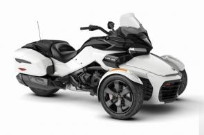 Go the extra mile with the Spyder F3-T. Enjoy the road with the built-in infotainment system, added comfort of a windshield along with a smooth and quiet ride. You can also take along your gear with integrated hard side luggage.