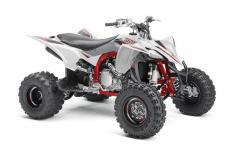 YFZ450R SE: The ultimate pure sport ATV package is highlighted with eye‑catching color and graphics and a GYTR front grab bar.
