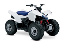 The Z90 is the ideal ATV for young riders to learn on. Convenient features like the automatic transmission and electric starter help make this ATV suitable for supervised riders ages 12 and up. Get your little ones started on the Quadsport Z90 so your whole family can experience Suzuki's Way of Life!