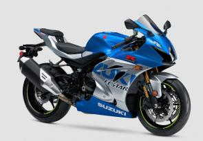 As Suzuki marks its 100th anniversary as a company in 2020, the new 2021 GSX-R1000R 100th Anniversary Edition arrives to celebrate the brand's achievements on the racetrack.  In 1985, Suzuki revolutionized the sportbike category with the introduction of the original GSX-R750, then rewarded enthusiasts and racers in 2001 with the original GSX-R1000. Now, the limited-availability GSX-R1000R 100th Anniversary Edition also recognizes Suzuki's 60th year in racing, a milestone celebrated with the MotoGP team's retro-inspired livery. The MotoGP GSX-RRs traditional blue and slate silver paint scheme pays homage to Suzuki's early Grand Prix machines of the 1960s.  At the pinnacle of the GSX-R family of ultra-high performance motorcycles, the GSX-R1000R's versatile engine provides class-leading power that is delivered smoothly and controllably across a broad rpm range. The compact chassis delivers nimble handling with excellent suspension feel and braking control, ready to conquer a racetrack or cruise a country road. Advanced electronic rider aids enhance the riding experience while the distinctive, aerodynamic GSX-R bodywork slices through the wind.  The GSX-R1000R 100th Anniversary Edition has an unmatched combination of reliability, durability, usability, and overall performance with excellent racing potential in a striking package that respects a century of Suzuki excellence.