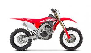 "Honda's CRF250RX is a high-performance trail/enduro machine built to exploit all the advantages a 250 has to offer. And this year, it gets the same major upgrades as our CRF250R motocrosser: new frame and swingarm, head, piston, stronger clutch springs, and more. Best of all, part of that ""more"" includes more power. Special enduro-ready features include an 18-inch rear wheel, a bigger fuel tank, special suspension settings, a sidestand, and more."