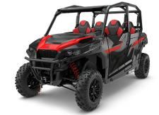 Any Task. Any Trail. The GENERAL™ 4 1000 EPS delivers all the power and versatility of the GENERAL family, plus 4 seats to bring your friends and family along for the ride. With the hard-working heart of a RANGER® and the performance of a RZR®, youll have all the class-leading power and rugged features you need to share the thrill of off-road adventure.     NEW! FOX® 2.0 PODIUM X QS3 Shocks     Most Rear Row Legroom & Comfort     Front Bumper     4,500 lb. Polaris HD Winch