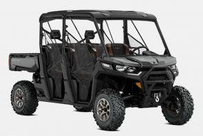 Schedule? To-do list? Office hours? The Defender just works. The day is done when you say it is, so get the most from a side-by-side made to handle any condition, any obstacle, and any rider—from experienced to novice.  BUILT FOR HIGHER GROUND. The ultimate Defender MAX, upgraded from top to bottom: 6-person seating, industry-leading Rotax HD10 engine, unique interior trim—and tons of factory extras.