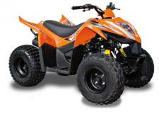 This ATV is for a young rider who is establishing their independence. The ability to shift into reverse provides easy maneuverability, demanding no further assistance. The new ergonomically designed seat helps riders move and shift around with ease. ATV Safety Training Offered with the Purchase of any Kymco Youth ATV (Available in Black and Orange)