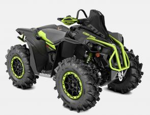 Most powerful ATV is the new 91-hp Renegade X mr 1000R built strong to ride fast & far through mud, with next-generation suspension to dominate off-road
