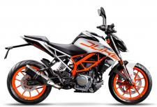 The KTM 390 DUKE combines maximum riding pleasure with optimum user value and comes out on top wherever nimble handling counts. The WP suspension combined with being light as a feather, powerful and packed with state-of-the-art technology guarantees a thrilling ride, whether youre in the urban jungle or a forest of bends.