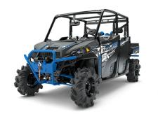 "HARDEST WORKING PERFORMANCE. LEGENDARY RIDE AND HANDLING. MORE POWER THAN ANY OTHER UTILITY SIDE-BY-SIDE IN THE WORLD. AND ROOM FOR 6 TO BRING THE WHOLE CREW TO THE JOB SITE, THE HUNTING CABIN, OR OUT ON THE TRAILS. THE RANGER CREW XP 1000 PROVIDES EVERYTHING YOU NEED TO GET MORE DONE. HIGH LIFTER EDITION FEATURES:      Mud Specific Gearing     High Mount Air Intake and Vent Lines     13"" Ground Clearance     28 High Lifter Outlaw 2 Tires     4,500 lb. Polaris HD Winch     High Lifter Edition Graphics Package     And more"